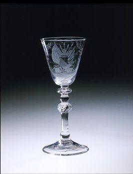 Wijnglas met Utrecht's Wapen
