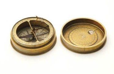 Zonnewijzer met kompas