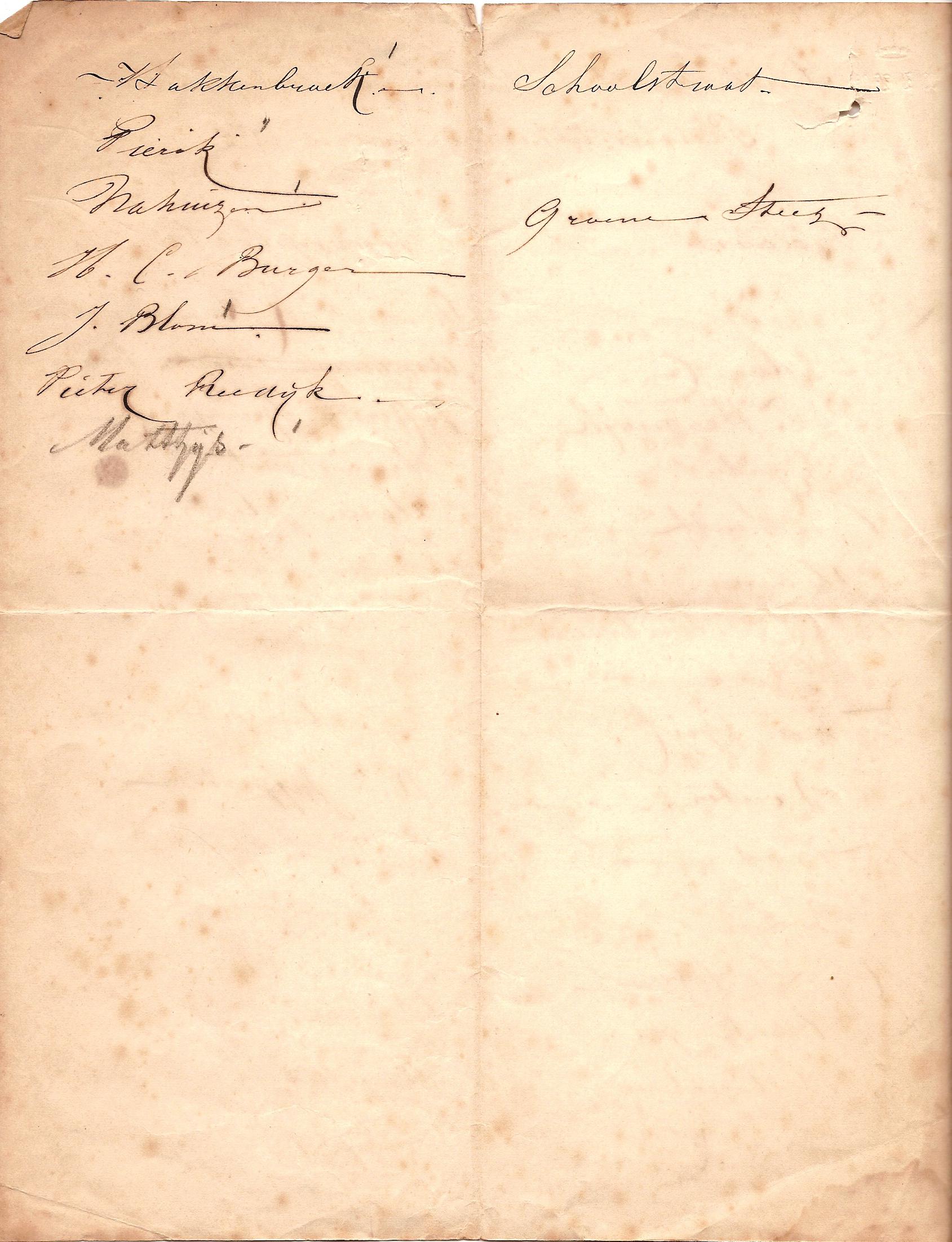 Pleistertekencursus 1875 v