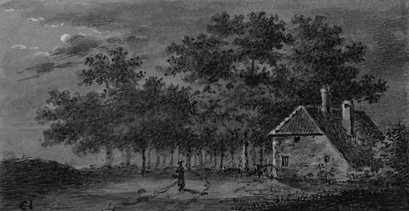 Landschap met figuur