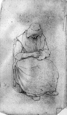 Vrouw met handwerk