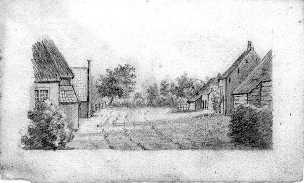 Een dorpsweg
