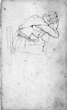 Vrouw rust aan keukentafel