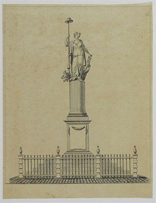 Vrijheidsbeeld op de Neude te Utrecht
