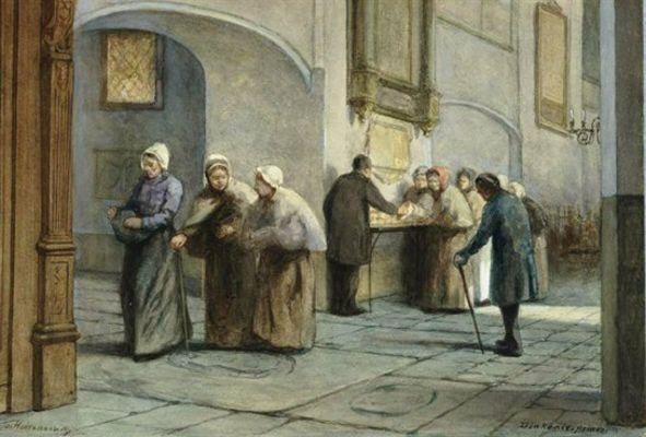 Diakonie-armen in de Buurkerk te Utrecht