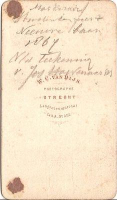 Achterzijde Souvenir 25 oct 1867