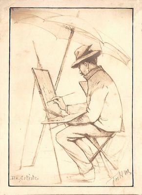 Parapluien: de artiest