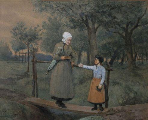 Grootmoeder op bezoek