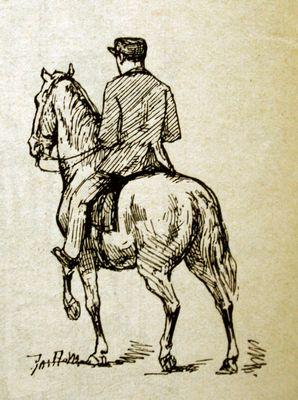 Een man op een paard