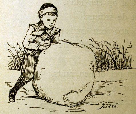 Een bal van sneeuw