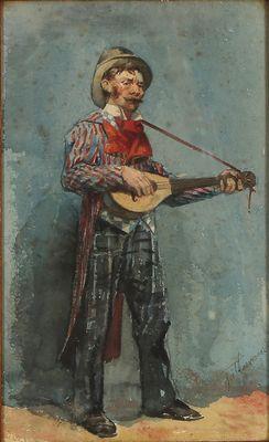 Vrolijke muzikant