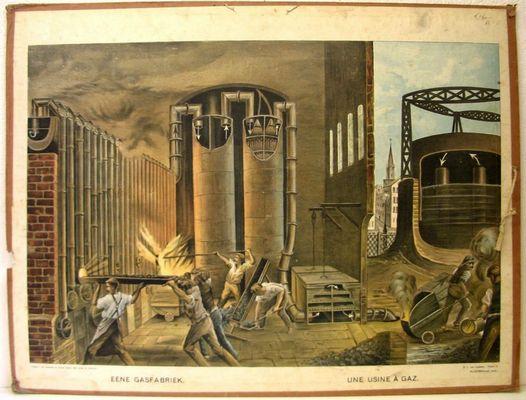 Eene gasfabriek