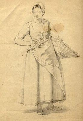 Vrouw met mand