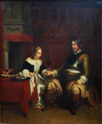 Paar in Interieur