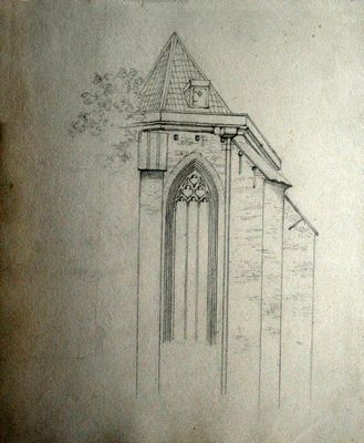 Studie van een kerkgebouw