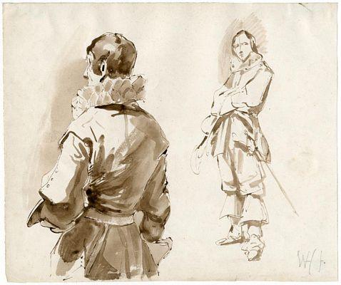Twee mannen 17e eeuw