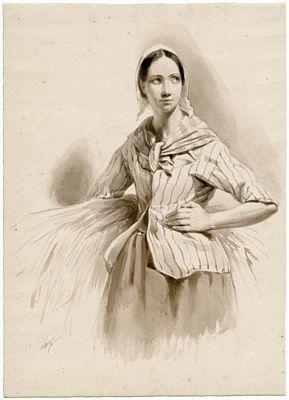Vrouw met korenaren