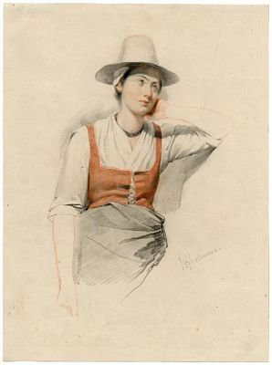 Meisje met hoed en jakje