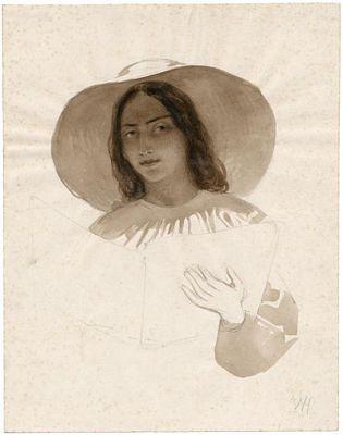 Meisje met hoed en boek