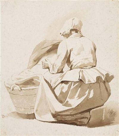 Een vrouw naast een wieg