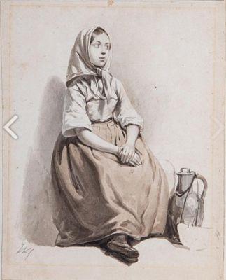 Zittende vrouw